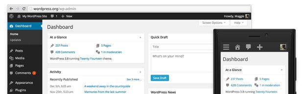 WordPress 3.8 比以往版本有哪些改进?